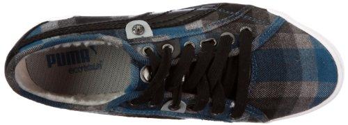 Puma zapatilla de Córcega cuadros de wn 352300 para mujer Negro (Schwarz/Deep Water-Black)