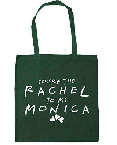HippoWarehouse estás la bolsa de la compra bolsa de playa de Rachel a mi Mónica 42cm x38cm, 10litros verde oscuro