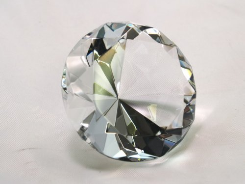 (Clear Crystal Diamond Jewel Paperweight 80mm)