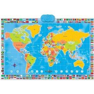 Carte Du Monde Interactive.Carte Du Monde Interactive Planisphere Tactile Amazon Fr