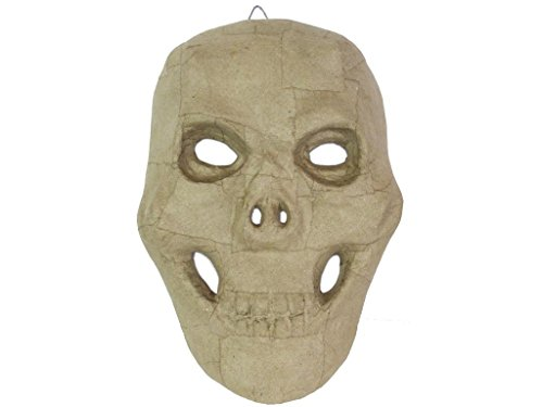 Craft Pedlars Craft Ped Paper Mache Mask Skull ()