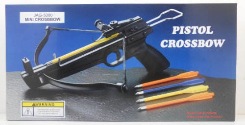 Bow Products : 50 lb. Mini Crossbow Pistol Hand Held Gun Archery Hunting Cross Bow w/ 5 Arrows