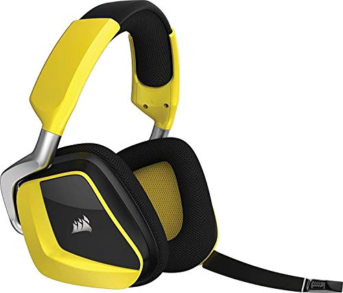 CORSAIR Void PRO RGB Wireless Gaming Headset - Dolby 7.1 Surround Sound Headphones for PC - Discord - 50mm Drivers - Yellow (Renewed)
