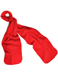 Solid Color 100% Polyester Fleece Unisex Winter Scarf