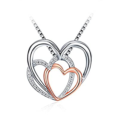 Silver heart necklace for women 925 sterling silver 5a zirconia j silver heart necklace for women 925 sterling silver 5a zirconia jse pendant necklace aloadofball Images