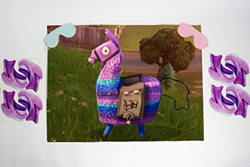 Pin the Tail on the Loot Llama Party Game | Video Game Party Supplies | Video Game Party Favors | Loot Llama Party Supplies | Video Game Party Decorations | Large 21