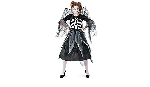 QWWR Disfraz de Halloween adulto zombie esqueleto estampado ángel ...