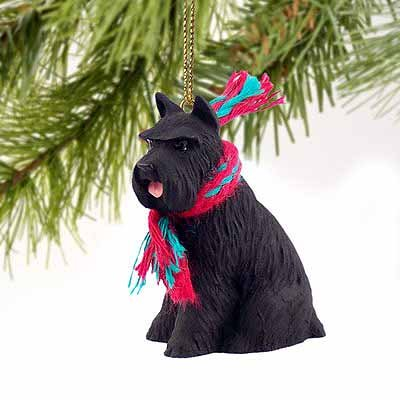 1 X Schnauzer Miniature Dog Ornament - Black by Conversation ()