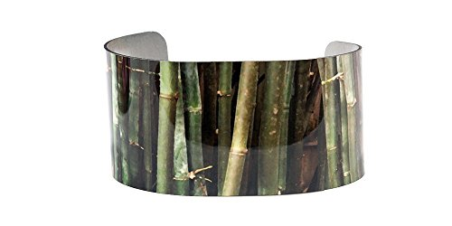 (Bold Bamboo photo cuff bracelet)