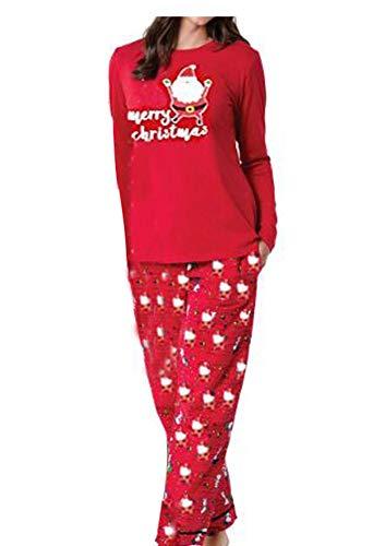 4524e544cf Durcoo Family Matching Christmas Pajamas Sets Reindeer Santa Claus Sleepwear