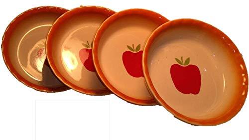 Baking Pan - Mini Pies - Ceramic Stoneware (4) Easy and Fun to Bake Personal Sized Sweet or Savory Pot Pies - Pie Dish - Pot Pie Pans