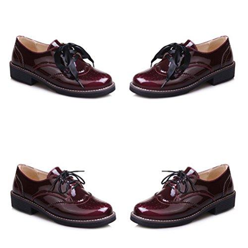 Lacets HiTime Femme Bordeaux à Chaussures qwPn1SB