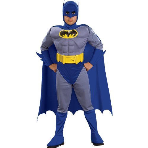 [Batman Brave and Bold Deluxe Batman Child Costume - Medium (8/10)] (Bold Jumpsuit Costumes)