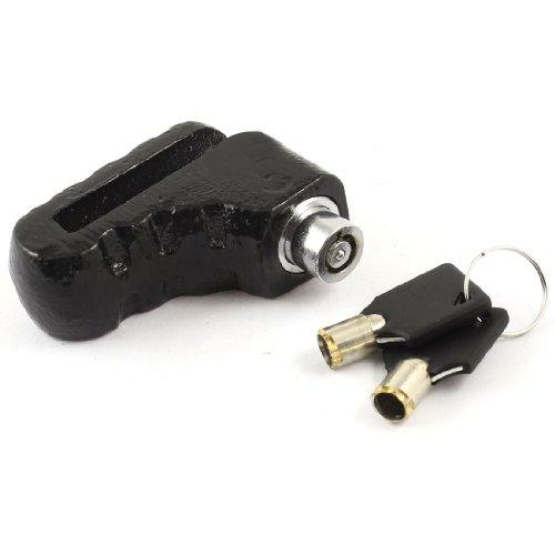 0–45mm Verrouillage Range Chaussures en forme de serrure de disque de frein pour moto Noir
