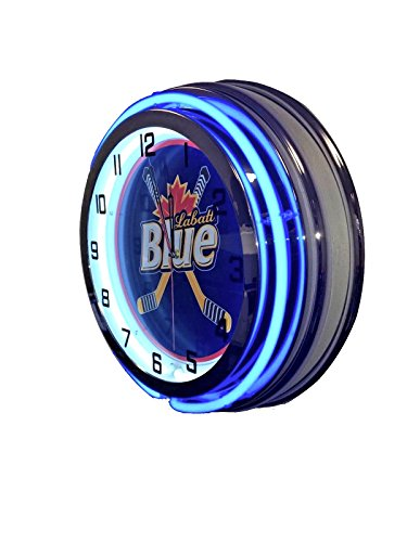 "Used, Labatt Blue Sign - 19"" Neon Clock for sale  Delivered anywhere in USA"
