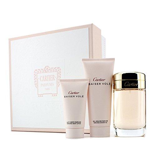 - Cartier Baiser Vole by Cartier for Women 3 Piece Set Includes: 3.3 oz Eau de Parfum Spray + 1.6 oz Body Lotion + 3.3 oz Shower Gel