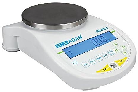 AE ADAM NBL 1602i Balanza Precisión con Capacidad de 1600 g y Legibilidad de 0.01 g, Calibración Interna: Amazon.es: Industria, empresas y ciencia
