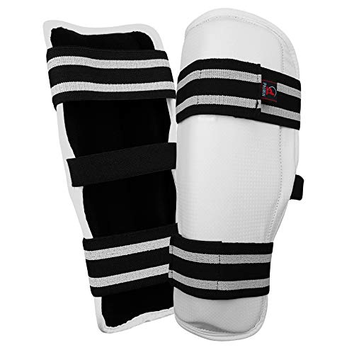 PROWIN CORP TKD Shin Guard Protector Sparring Pads - MMA, Kickboxing, Muay Thai Martial Arts (Adult Large) ()