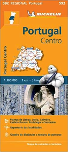 Michelin Regional Map 592 Portugal Centro
