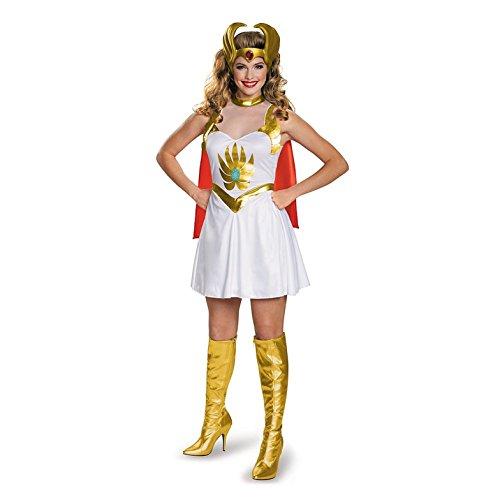 Disguise Women's She-Ra Classic Costume, Multi, (He-man Halloween Costumes)