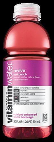 Glaceau Vitamin Water 12-20Floz Bottles (revive fruit punch)