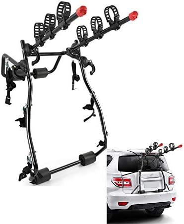 車の自転車ラックトランクまたはヒッチキャリア厚く素材強い支持力 リアマウント バイクラック、マウント1〜3の自転車、4スタイル Ljianw (Color : Black-A, Size : 62x21x93cm)