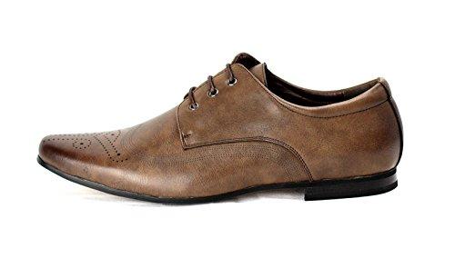 JAS - Zapatos de cordones de Material Sintético para hombre Regular café