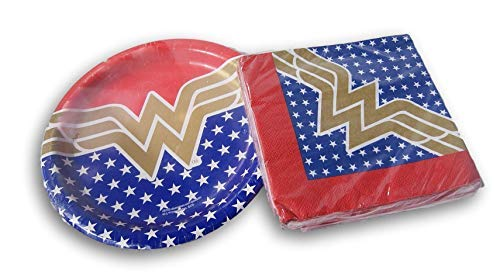 (Wonder Woman Super Hero Party Bundle - Plates and)