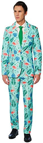 Suitmeister Funny Suits for Men in Different Prints - Comes with Jacket, Pants and Tie with Fun Prints 1