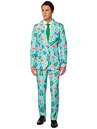 Suitmeister Halloween Costumes for Men - Tropical- Include Jacket Pants & Tie, Tropical, -