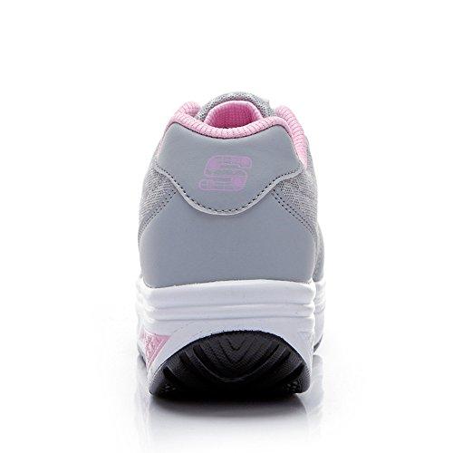 powder Single Women'S Shoes Sports Ladies Female New Hasag Shoes Breathable Shoes Mesh Platform Ash Sports Mesh Casual Shoes Tw6qt5B5x