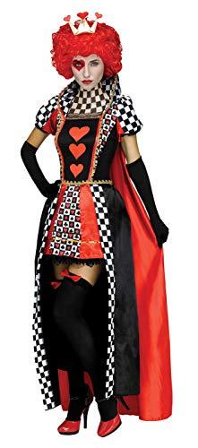 Fun World Women's Queen of Hearts, Multi, S/M Size 2-8