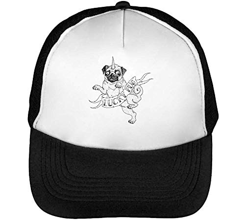 Pug Hombre Blanco Snapback Stencil Lucky Beisbol Negro Gorras Fashioned pIdnx1