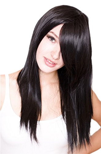 Cosplayland C994 – 60cm straight black Final Fantasy Rinoa Wig like real Hairs by Prettyland 41lwwWp KWL