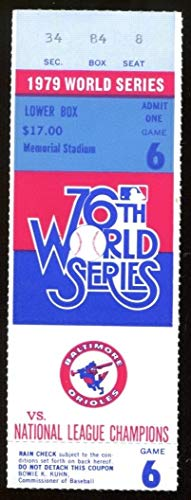 1979 World Series Game 6 Ticket Orioles v Pirates Ex/MT 43567