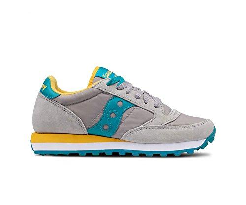 Jazz Sneakers Grey Femme Original Teal Blue fdqxRgwd
