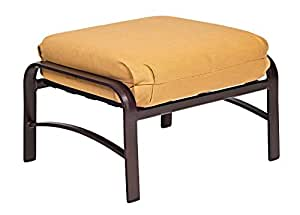 Woodard  Belden Cushion Ottoman, Chestnut Brown, Spectrum Carbon