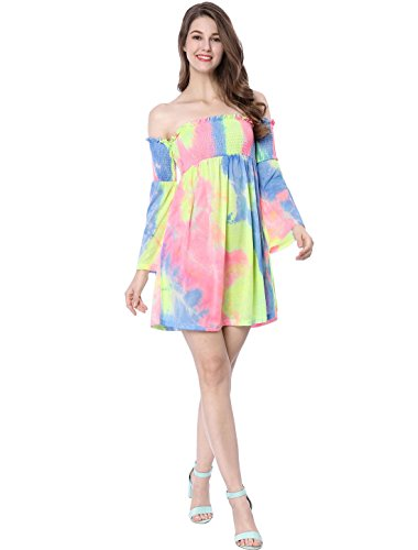 Off Vernice Tie Dye multicolore vestito K Lady spalla a Tromba Allegra Handle 57wURvx