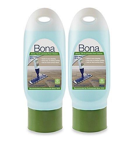 2 Pack of Bona Stone Tile & Laminate Floor Cleaner Refill Cartridge, 33 oz
