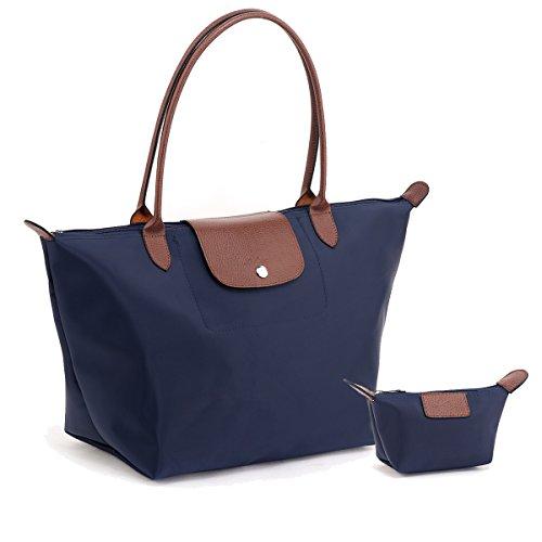 Women's Shoulder bags DOIOWN Waterproof Foldable Tote Bags Handbags Purses (Blue)