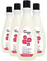 Mountain Falls Professional Regular Nail Polish Remover with Vitamin E & Panthenol, Paraben-free, Salon Formula, Compare to Cutex, 10 Fluid Ounce (Pack of 4)
