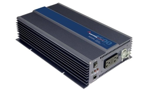 Samlex PST-1500-24 PST Series Pure Sine Wave DC-AC Power Inverter, 1500W Continuos Power Output, 3000W Surge Power Output, Wide operating DC input range 21.4 - 33.0 (20r Front Outlets)