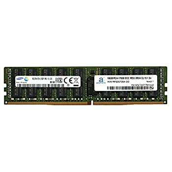 Image of Adamanta 16GB (1x16GB) Server Memory Upgrade Compatible for Dell Poweredge, Dell Precision & HP Proliant Servers DDR4 2133MHz PC4-17000 ECC Registered Chip 2Rx4 CL15 1.2V P/N: SNP1R8CRC/16G DRAM RAM Memory