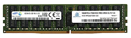 (Adamanta 16GB (1x16GB) Server Memory Upgrade Compatible for Dell Poweredge, Dell Precision & HP Proliant Servers DDR4 2133MHz PC4-17000 ECC Registered Chip 2Rx4 CL15 1.2V DRAM RAM)
