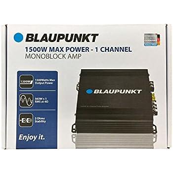 BLAUPUNKT AMP1501 CAR AUDIO 1-CHANNEL MONO BLOCK AMP AMPLIFIER 1500W MAX PEAK
