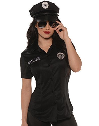 Underwraps Women's Plus-Size Police Fitted Shirt, Black, XX-Large