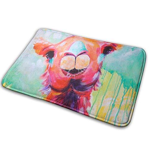 Stazary Watercolor Animal Camel Soft Non Slip Absorbent Bath Rugs,Memory Foam Bath Mats Entrance Mat Floor Mat by Stazary