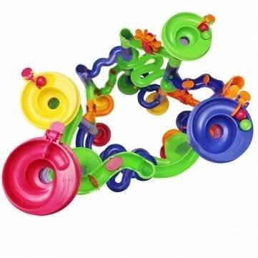 Zadaro 58Pcs Marble Run Race Coaster Set DIY Building Blocks Creative Track Game Tower Marble Ball Construction Toys