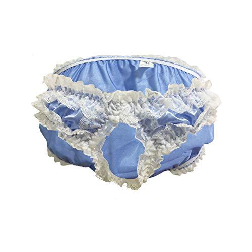 5daad74adf wear2me Men Sissy Pouch Panties Cute Lace Crossdress Underwear Satin Brief  L-3XL