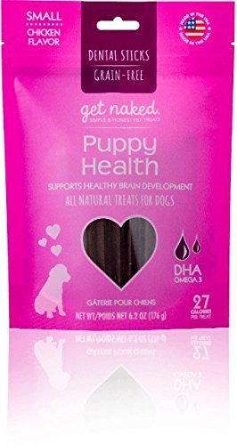 Get Naked Puppy Health Dental Chew Sticks for Puppies and Dogs, Small/6.2-Ounce, 18 sticks/Pack